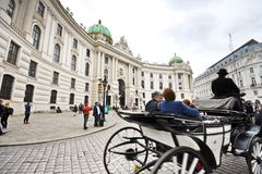 Horse-drawn carriage in Vienna Royalty Free Stock Image