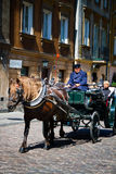Horse Drawn Carriage in Warsaw Royalty Free Stock Photo