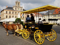 Horse-drawn Carriage in Weimar Royalty Free Stock Photo