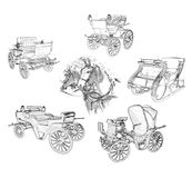 Horse drawn carriages Royalty Free Stock Photography