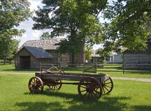 Horse Drawn Farm Wagon Stock Images