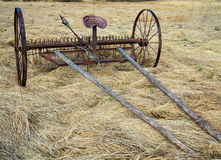 Horse Drawn Rake Royalty Free Stock Photography