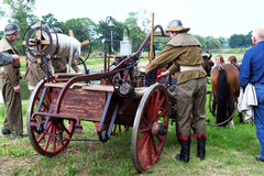 Horse-drawn 1900s fire-engine Stock Photos