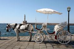 Horse-drawn taxi Stock Image