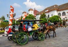Horse-drawn vehicle Stock Photos