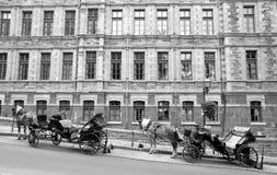 Horse-drawn Wagen Stockfotografie
