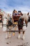 Horse drawn wagon Stock Photo