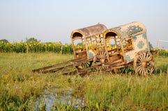 Horse-drawn Wagon Stock Photo