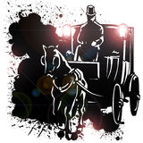 Horse-drawn Wagon Royalty Free Stock Image