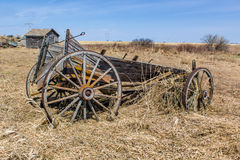 Horse drawn wagon. Broken horse drawn wagon in a rural setting Royalty Free Stock Photos