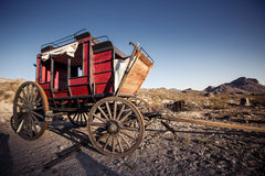 Horse drawn wagon in the Mojave desert. Stock Photography