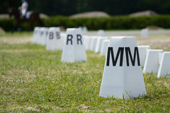 Horse dressage arena Stock Images