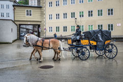 Horse driven carriage Stock Images