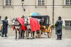 Horse driven carriage Stock Photos