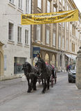 Horse driven carriage in Salzburg, Austria. Stock Images