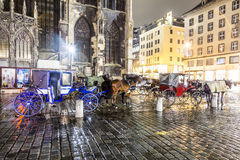 Horse-driven carriage at Royalty Free Stock Images