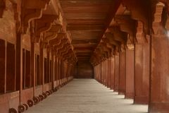 Horse / Elephant stable at Fatehpur Sikri royalty free stock photo