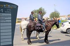 Horse Escort Prime Minister Benjamin Netanyahu Royalty Free Stock Images