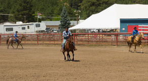 A horse event for children at pagosa springs Stock Photography