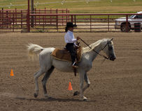 A horse event for children at pagosa springs Royalty Free Stock Photo