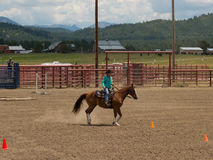 A horse event for children at pagosa springs Stock Image
