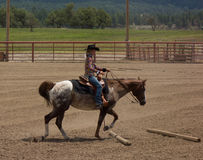 A horse event for children at pagosa springs Royalty Free Stock Photography