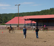 A horse event for children at pagosa springs Royalty Free Stock Photos