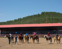 A horse event for children at pagosa springs Royalty Free Stock Image
