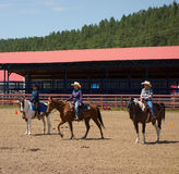 A horse event for children at pagosa springs Stock Photo