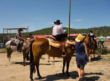 A horse event for children at pagosa springs Stock Images
