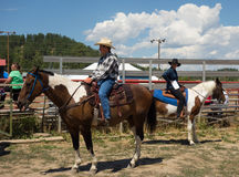 A horse event for teens at pagosa springs Royalty Free Stock Photo