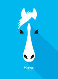 Horse face flat icon simple design, vector illustration Royalty Free Stock Photo