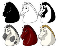 Horse faces Royalty Free Stock Photos