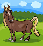 Horse farm animal cartoon illustration Royalty Free Stock Images