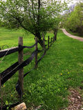 Horse farm fence  in Ohio Stock Photos