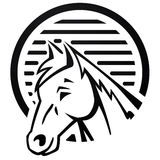 Horse at Farm logo Stock Images