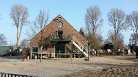 Horse farm with riding school in amsterdam Royalty Free Stock Images