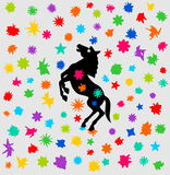 Horse festival with a shower of color Stock Images