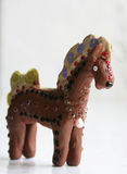 Horse. Figurine of plasticine toy horse. Shallow depth of field Stock Photos