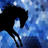 Horse fine vector silhouette color Royalty Free Stock Image