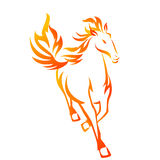 Horse Flame. A power running horse in flame style Royalty Free Stock Photo