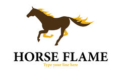 Horse flames logo. A beautiful horse with flames on him Stock Images