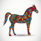 Horse with flowers and ornaments Stock Photos