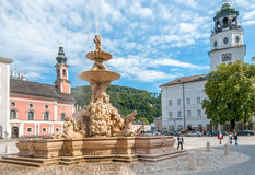 The Horse Fountain in Residenplatz Royalty Free Stock Photography