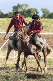 Horse game in Kyrgyzstan royalty free stock images