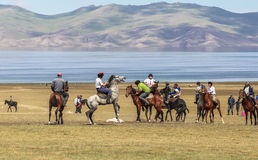 Horse Games at Song Kul Lake in Kyrgyzstan Royalty Free Stock Photos