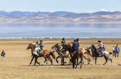 Horse Games at Song Kul Lake in Kyrgyzstan Stock Photography