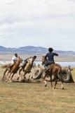 Horse Games at Song Kul Lake in Kyrgyzstan Royalty Free Stock Photography