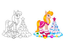 Horse girl dress,  new year Royalty Free Stock Photos
