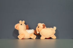 Horse and Goat Dolls Royalty Free Stock Image